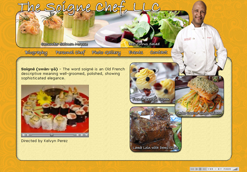 Personal Chef Web Design