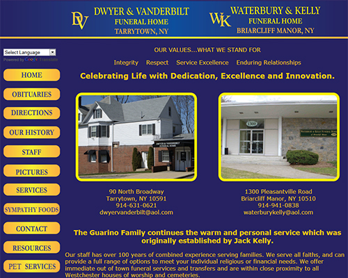 Funeral Home Web Design